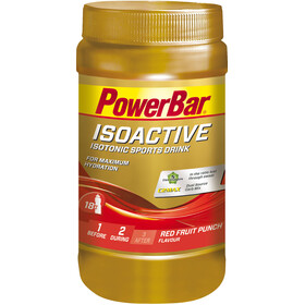 PowerBar Isoactive - Nutrición deportiva - Red Fruit Punch 600g rojo/Dorado